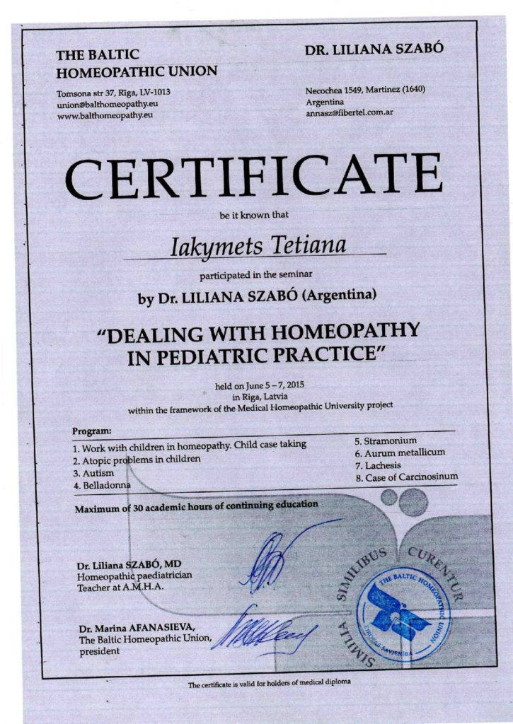 Tetiana Jakimiec homeopata poznan